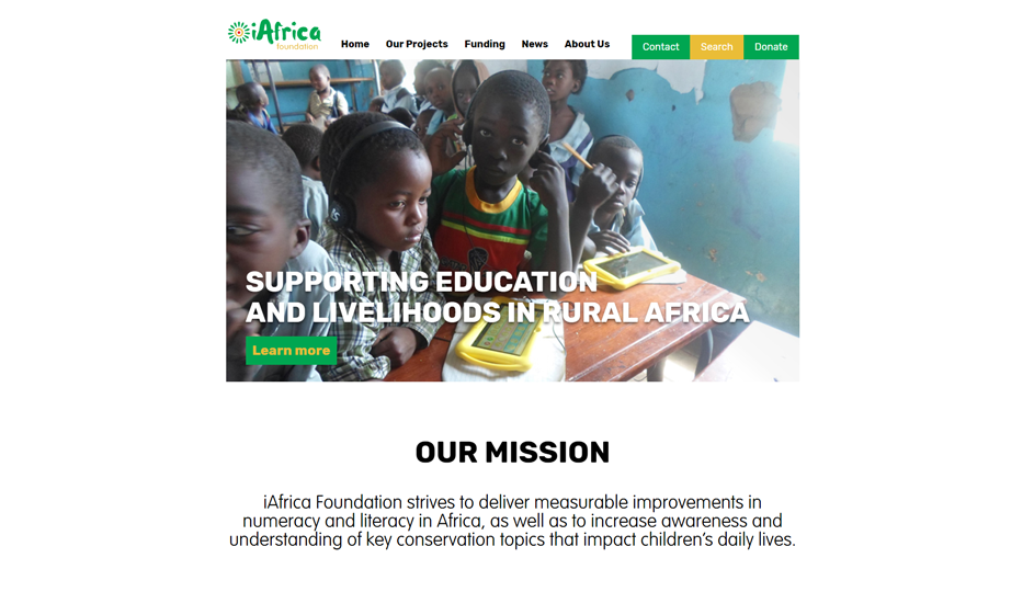 iAfrica Foundation Home